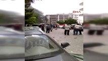 Mardin?in Midyat İlçesinde Emniyet Müdürlüğü Önünde Patlama-amatör Kamera Görüntüleri