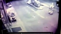 Drunk Man Runs Into Gas Station Door