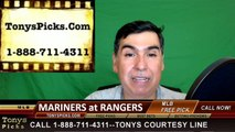Seattle Mariners vs. Texas Rangers Pick Prediction MLB Baseball Odds Preview 6-5-2016