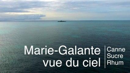 Drone à Marie Galante : filière canne - sucre - rhum