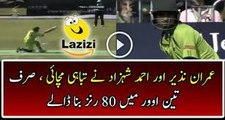 Check Out The Excellent Batting Of Pakistani batsman Imran Nazir And Ahmad Shahzad — June 6, 2016