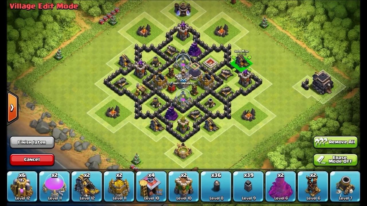 Th7 Farming Base Defense Town Hall 7 Anti Dragon Base Design Clash Of Clans Strategyvideogames Video Dailymotion
