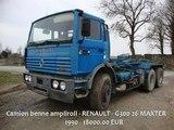 Camion benne ampliroll RENAULT G300 26 MAXTER
