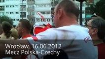 Szalony Czech! 1 w tłumie Polaków! (Wrocław 16.06.2012 Mecz Polska-Czechy)