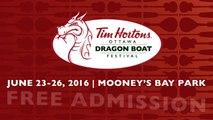 Free Concerts @ Tim Hortons Ottawa Dragon Boat Festival June 23-26
