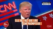 Donald Trump revient sur sa parole et se met à utiliser des prompteurs pour ses discours - Regardez