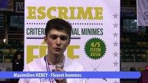 Interview Maximilien Hebey, vainqueur fleuret homme #fdjescrime 2016