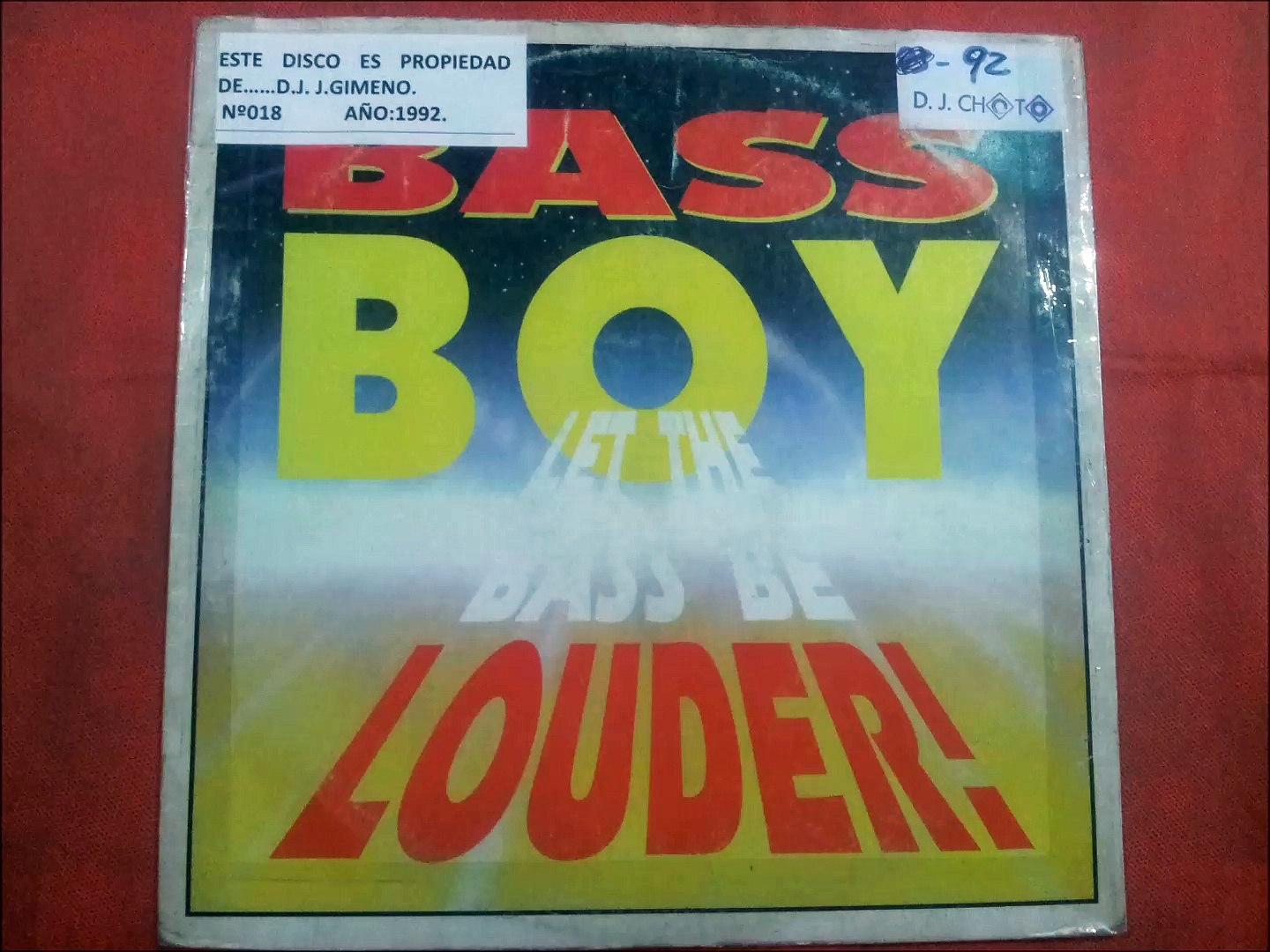 BASS BOY.(LET THE BASS BE LOUDER.(STUMPIN BASS MIX.)(12''.)(1992.)