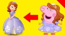 Disney Princess transformer Peppa Pig en español tu Sofia The First - Animations pour les enfants et les enfants