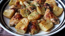 Greek Lemon Chicken & Potatoes Recipe - How to Make Greek Lemon, Garlic & Herb Chicken and Potatoes