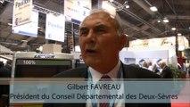 SMCL 2016 Pavillon Deux-Sèvres Interview de Gilbert FAVREAU, Pdt du Conseil Départemental des Deux-Sèvres