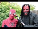 Spiderman vs Star Wars Darth Maul - @ 3D Animation - English Nursery rhymes - 3d Rhymes - Kids Rhymes - Rhymes for childrens