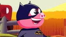 'Three Little Pigs' w- Superheroes (Batman, Superman) Story for Children @ 3D Animation - English Nursery rhymes - 3d Rhymes - Kids Rhymes - Rhymes for childrens