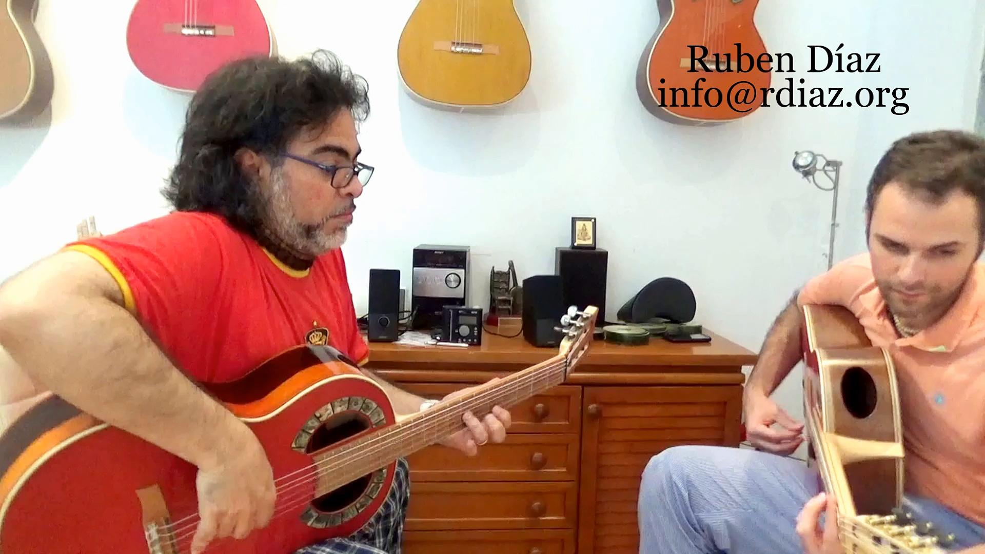 Perla Aquila Italian Bio Nylon Strings on Andalusian Simplicio Vanguard Guitars / Ruben Diaz modern flamenco