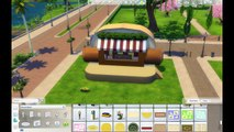 HOT DOG Hot Dog Stand Speed Build! | The Sims 4 Dine Out