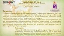 Simbahay | Nobyembre 27, 2015 | Biyernes sa Ika-34 na Linggo ng Karaniwang Panahon