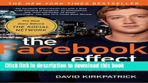 New Book The Facebook Effect: The Inside Story of the Company That Is Connecting the World