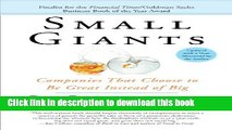 New Book Small Giants: Companies That Choose to Be Great Instead of Big
