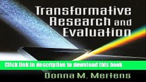 New Book Transformative Research and Evaluation