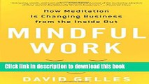 Collection Book Mindful Work: How Meditation Is Changing Business from the Inside Out