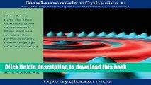 [PDF] Fundamentals of Physics II: Electromagnetism, Optics, and Quantum Mechanics (The Open Yale