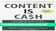 [New] PDF Content is Cash: Leveraging Great Content and the Web for Increased Traffic, Sales,