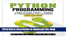 [PDF] Python Programming: Learn Python Today! - Coding   Programming For Beginners (Java, Html,