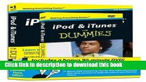 [New] EBook iPod   iTunes For Dummies, DVD + Book Bundle (For Dummies (Lifestyles Paperback)) Free