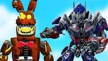 ANIMATRONICS vs TRANSFORMERS! (Gmod FNAF Sandbox Funny Moments) Garrys Mod