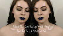 Midnight Muse Dark Blue Lips W/Gold & Grey Eyes | Feat. Kat Von D & MUG | Cailli York