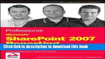[New] EBook Professional Microsoft SharePoint 2007 Reporting with SQL Server 2008 Reporting