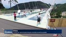 Chine : le pont en verre le plus long du monde ouvert au public