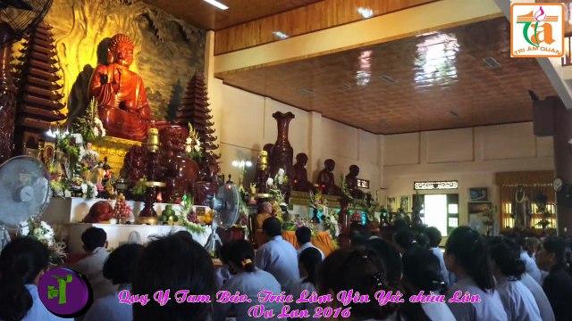Quy Y Tam Bao. Truc Lam Yen Tu chua Lan Vu Lan 2016