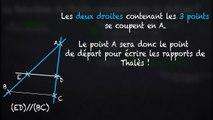 3ème Théorème de Thalès Rédaction d'une réponse