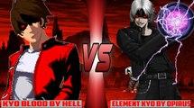 [Mugen - KOF] Clone Blood Kyo (HELL) vs. Element Kyo (Opirus)