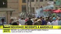 Scènes surréalistes de violence entre supporters anglais et russes à Marseille