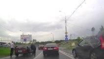 Conductores rusos lo arreglan todo a puñetazos salvo en este caso