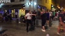 Des violences entre des hooligans anglais et des jeunes marseillais au Vieux-Port.