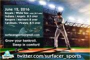 Cardinals / Pirates  8.5 over  |  Sports Betting Picks. MLB Baseball for Sunday, June 12, 2016.