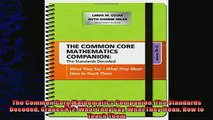 favorite   The Common Core Mathematics Companion The Standards Decoded Grades K2 What They Say