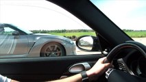Porsche 911 Turbo Evotech vs Porsche 911 GT2 vs Nissan GT-R Switzer P800