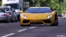 NOISY Lamborghini Aventador LP700 on the road in London