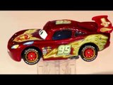Pixar Cars Unboxing NEON Lightning McQueen with other McQueen Cars from Disney Cars and Cars2
