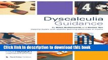 Download Dyscalculia Guidance: Helping Pupils with Specific Learning Difficulties in Maths  Ebook