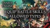 YEP.106 - Equip Battle Skills - Allowed Types - RPG Maker MV