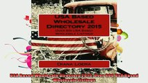 FREE DOWNLOAD  USA Based Wholesale Directory 2015 Over 800 USA Based Wholesale Listings READ ONLINE