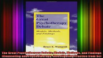 DOWNLOAD FREE Ebooks  The Great Psychotherapy Debate Models Methods and Findings Counseling and Psychotherapy Full Free
