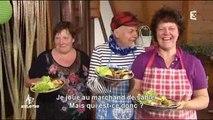 A'Gueter : fromage de biquettes et Schwartzwälder Schinken et fondue au munster maison
