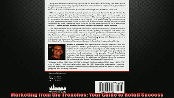 READ book  Marketing from the Trenches Your Guide to Retail Success  FREE BOOOK ONLINE