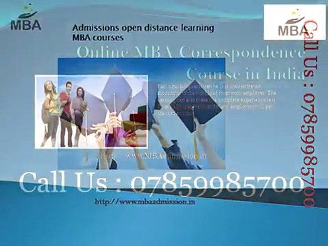 Admissions Open Distance Learning Mba Courses Video Dailymotion